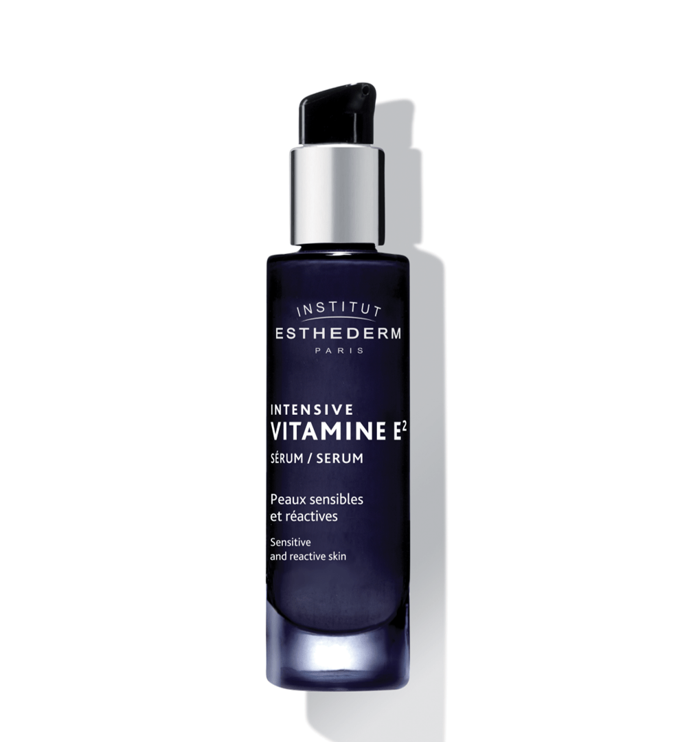 ESTHEDERM product photo, Intensive Vitamin E2 Serum 30ml, soothes sensitive reactive skin, resistance to external aggressions