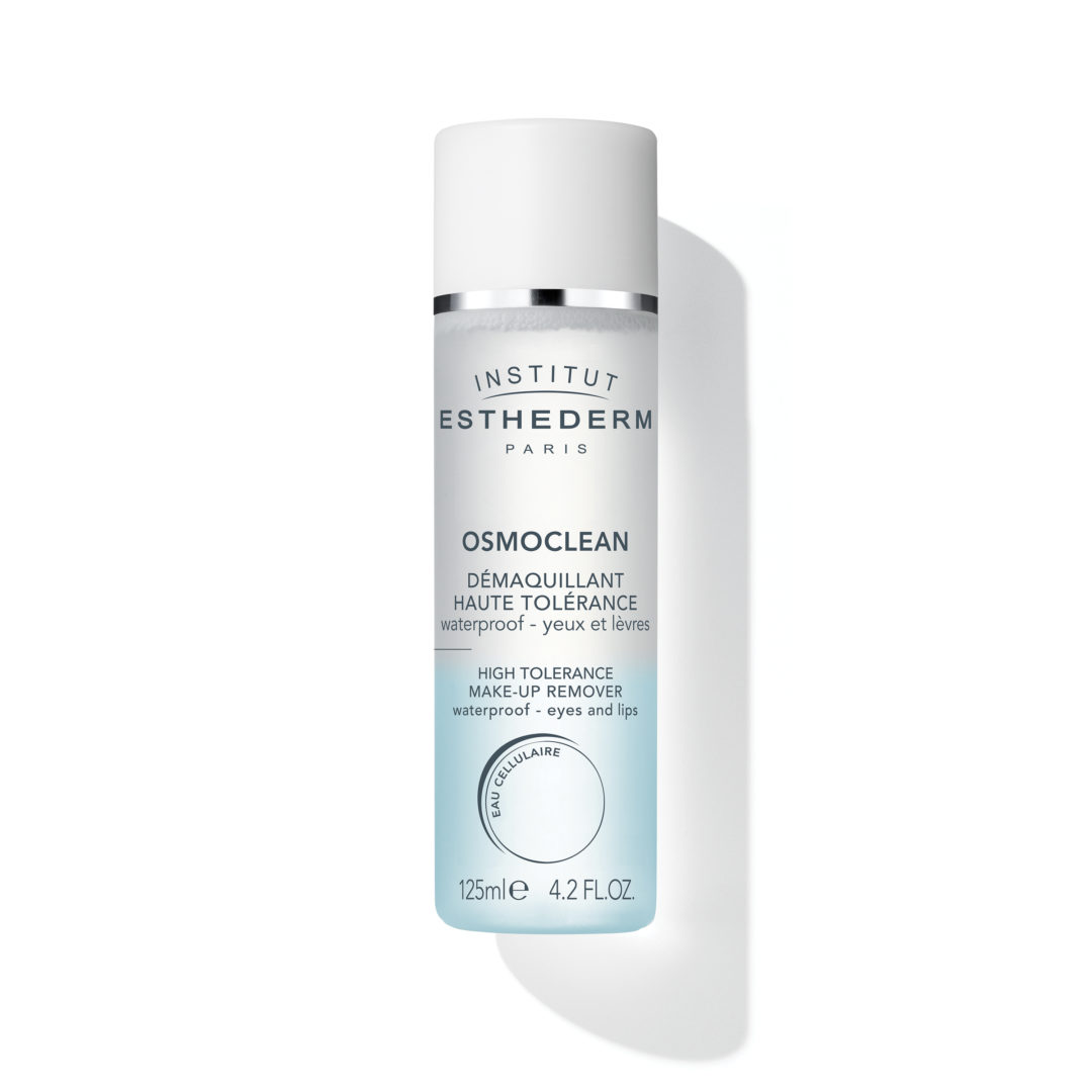 ESTHEDERM product photo, Osmoclean Waterproof Eyes and Lips Make-Up Remover 125ml, gentle cleanser, longwear makeup