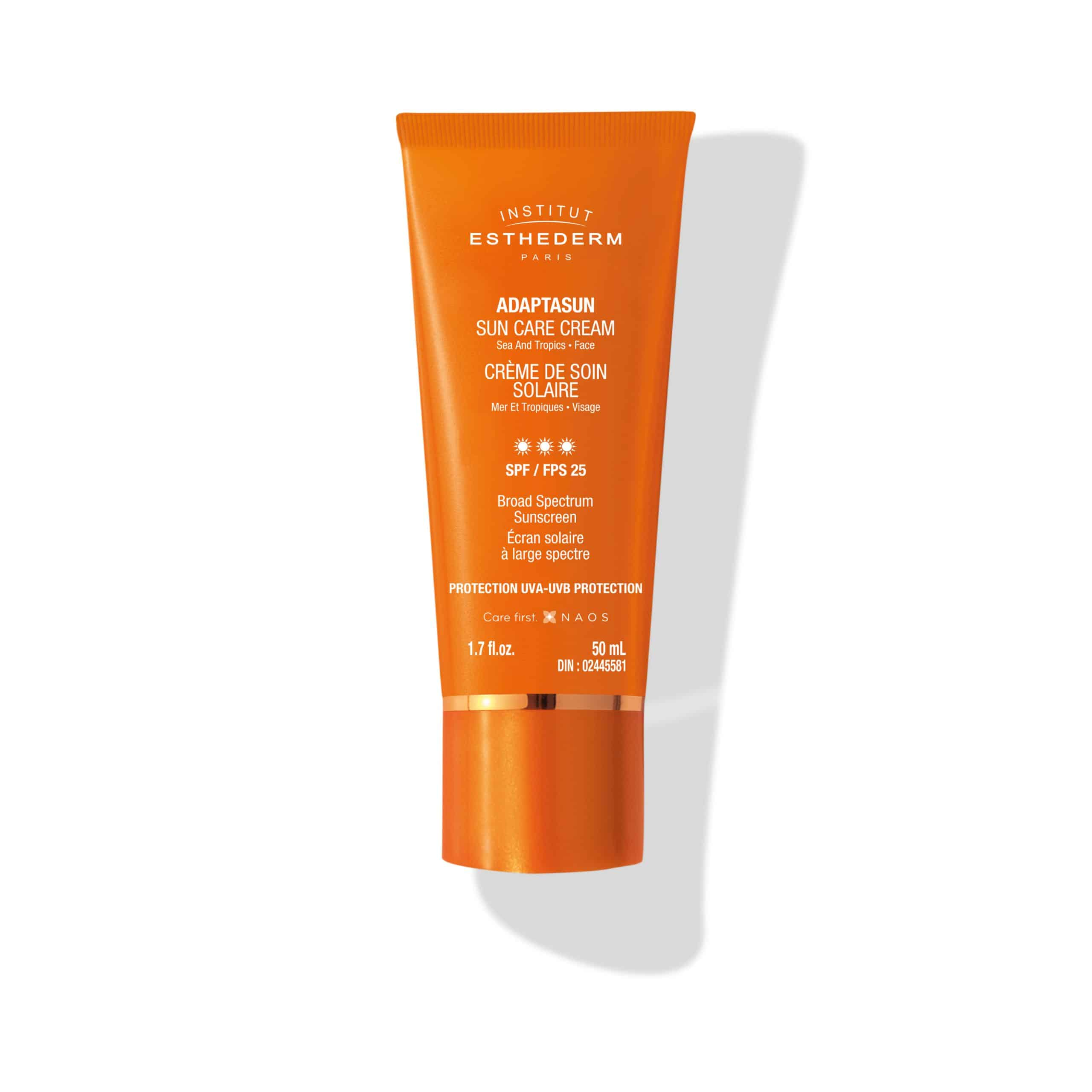 ESTHEDERM product photo, Sun Care Cream SPF 25 50ml, high UVA UVB sun protection, healthy tan, hydrating care