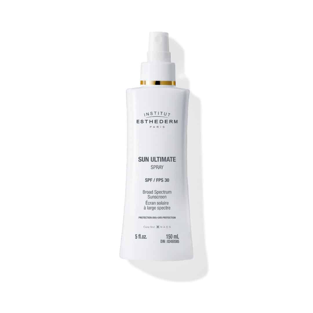 ESTHEDERM product photo, Sun Ultimate Body Spray SPF 30 150ml, sun protection, UVA UVB sun care, reactive skin