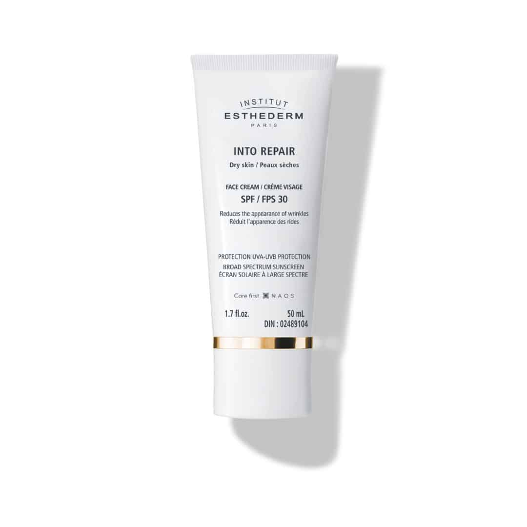 ESTHEDERM product photo, Into Repair Anti-wrinkle Face Cream 50ml, comfortable protective care, reactive skin