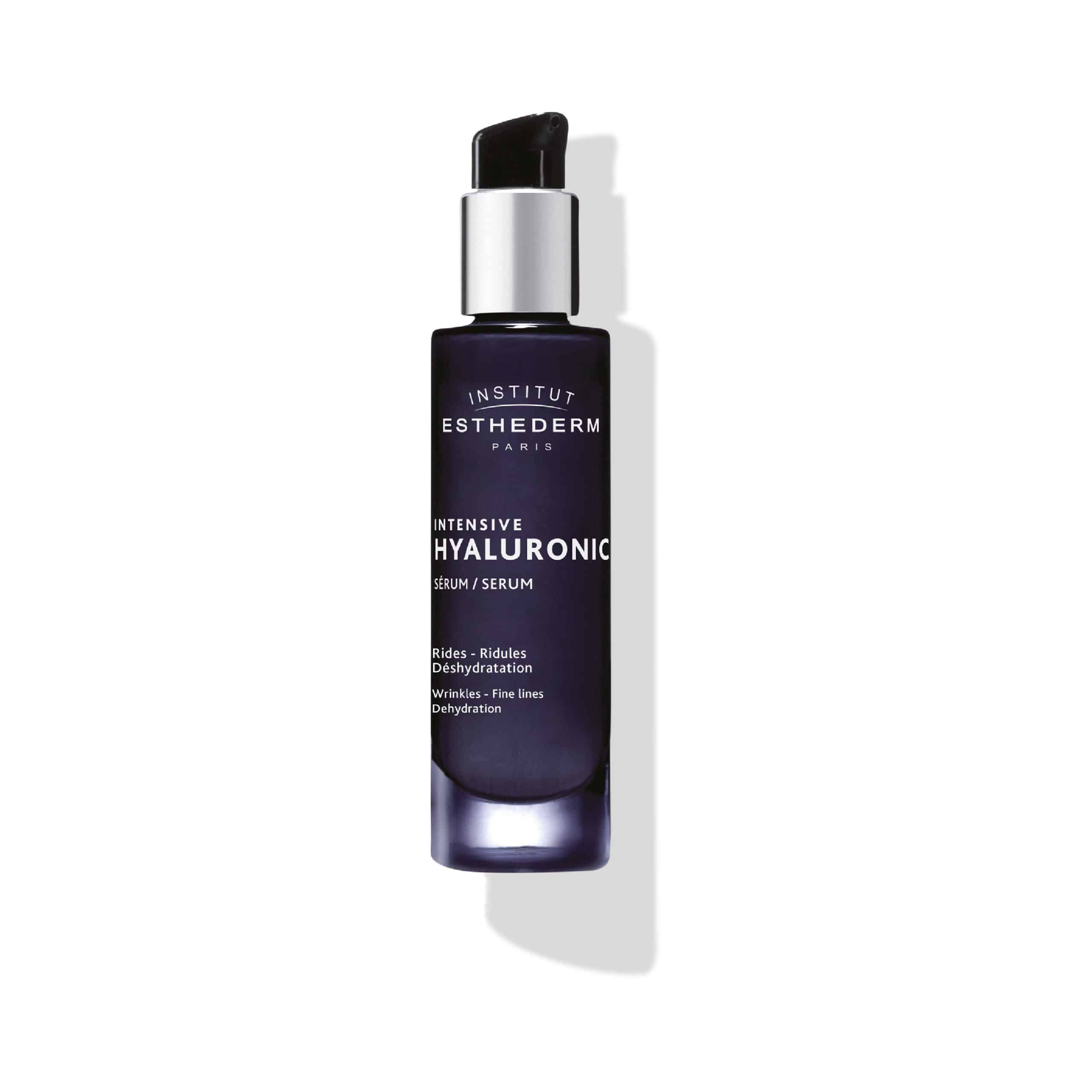 ESTHEDERM product photo, Intensive Hyaluronic Serum 30ml, hydrating, plumping care, first signs of aging