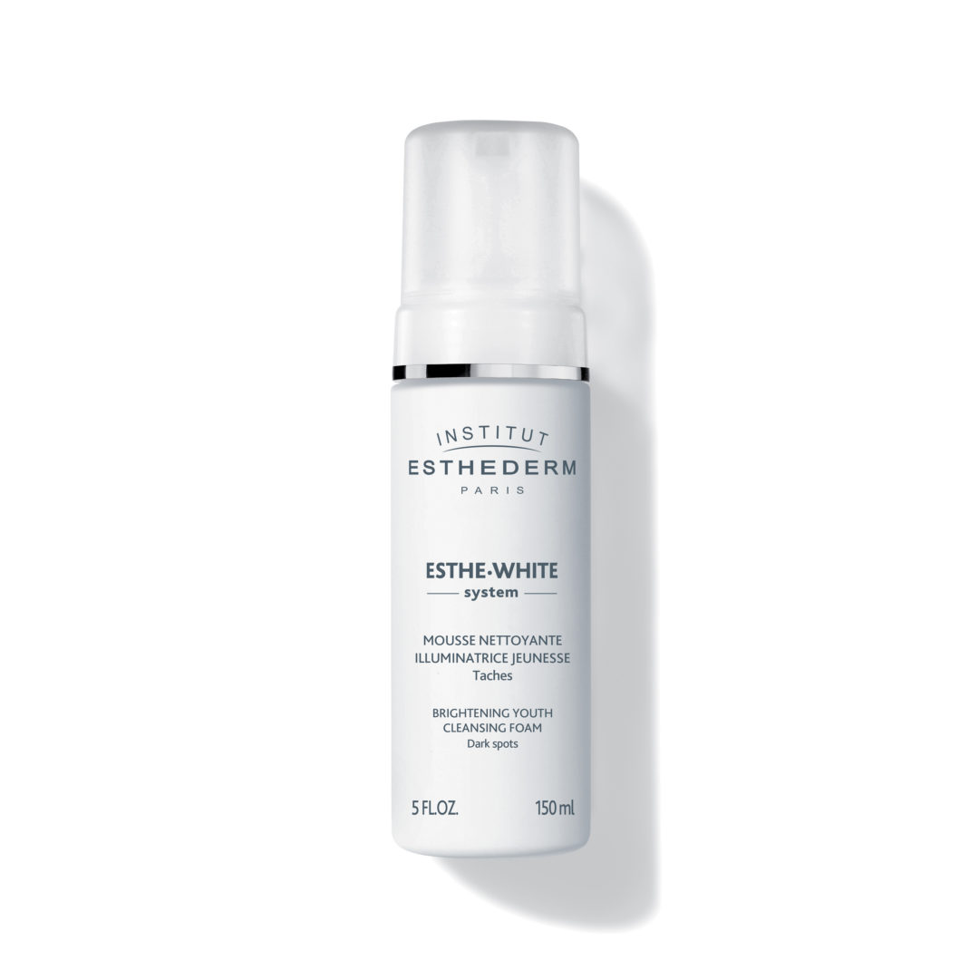 ESTHEDERM product photo, Esthe White Brightening Youth Cleansing Foam 150ml, reduces dark spots, even skin tone