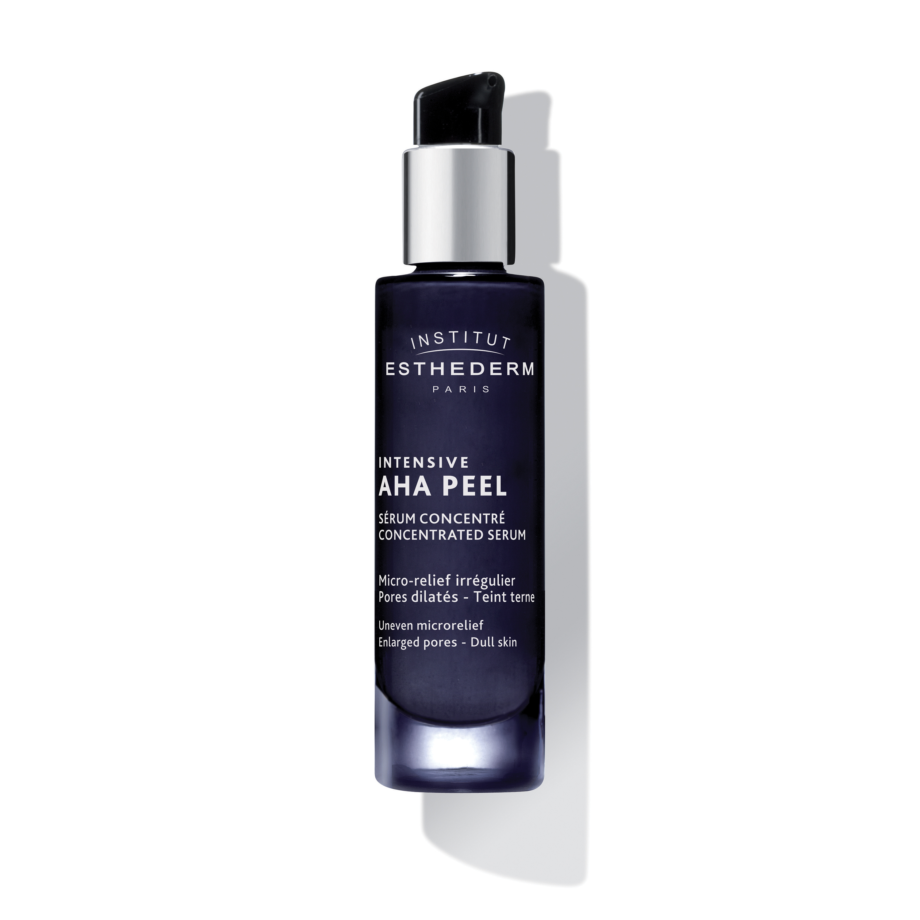 ESTHEDERM product photo, Intensive AHA Concentrated Serum 30ml, treats uneven skin texture and pores, AHA and BHA, peeling