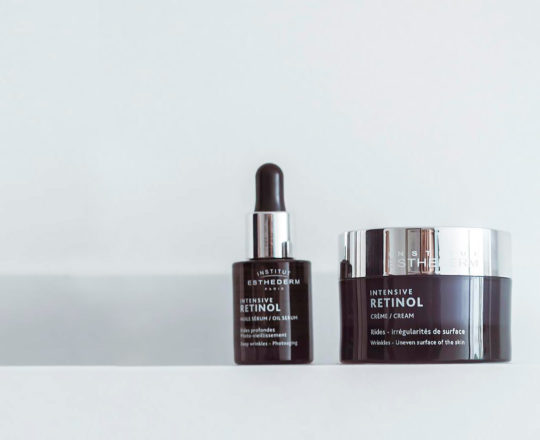 ESTHEDERM product photo, Intensive Retinol range, sérum, cream, fine lines and deep wrinkles, anti-aging care