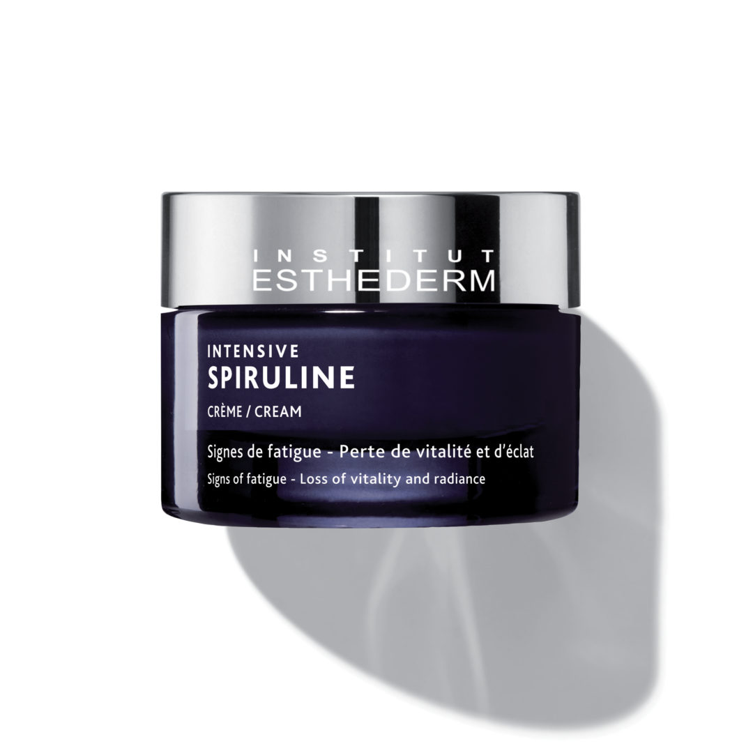 ESTHEDERM product photo, Intensive Spirulina Cream 50ml, brighten visibly tired or lackluster skin, skin energy, revitalized