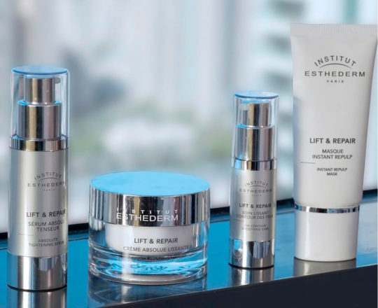 ESTHEDERM product photo, Lift & Repair range, serum, cream, eyes, mask, resculpts and shapes the face, anti-wrinkles, lifting