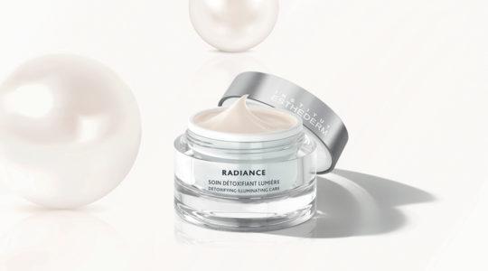 ESTHEDERM product photo, Radiance Cream 50ml, detoxifying illuminating care, moisturizes, treats signs of fatigue and aging