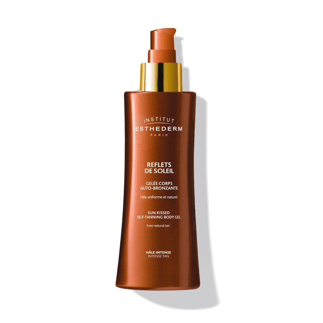 ESTHEDERM product photo, Intense Self-Tanning Body Jelly 150ml, sunless tanning, natural looking tan, easy application