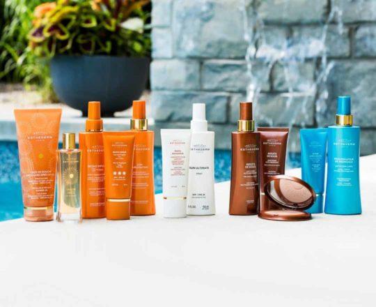 ESTHEDERM photo produit, solaire, protection UVA UVB, soin anti-âge hydratant, crème solaire, large spectre, filtres minéraux
