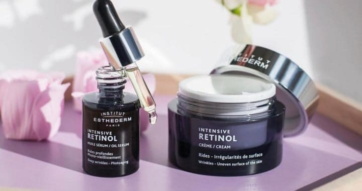 ESTHEDERM product photo, Intensive Retinol routine, fine lines and deep wrinkles, anti-aging care, treatment for aging