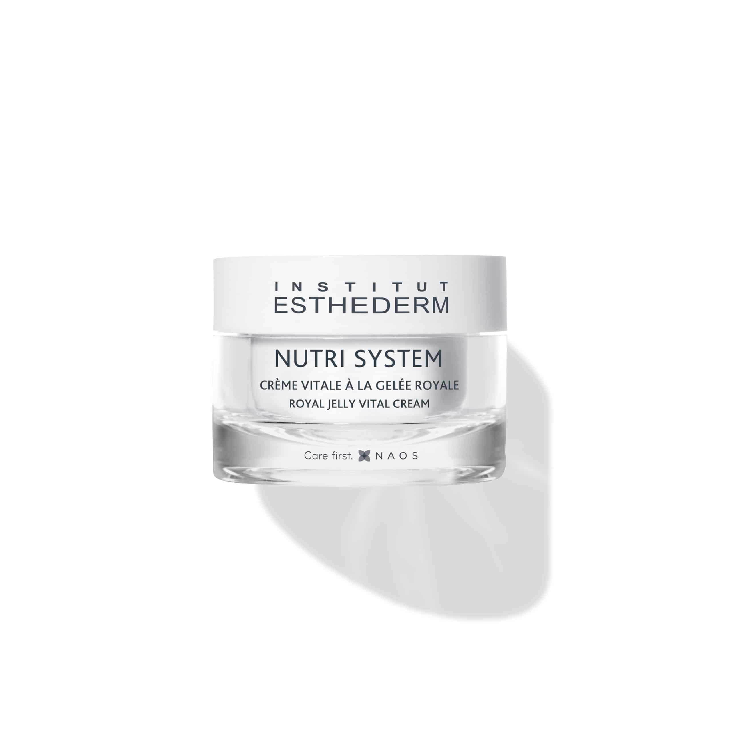 ESTHEDERM product photo, Nutri System Royal Jelly Vital Cream 50ml, revitalizing care, essential elements, skin nutrition