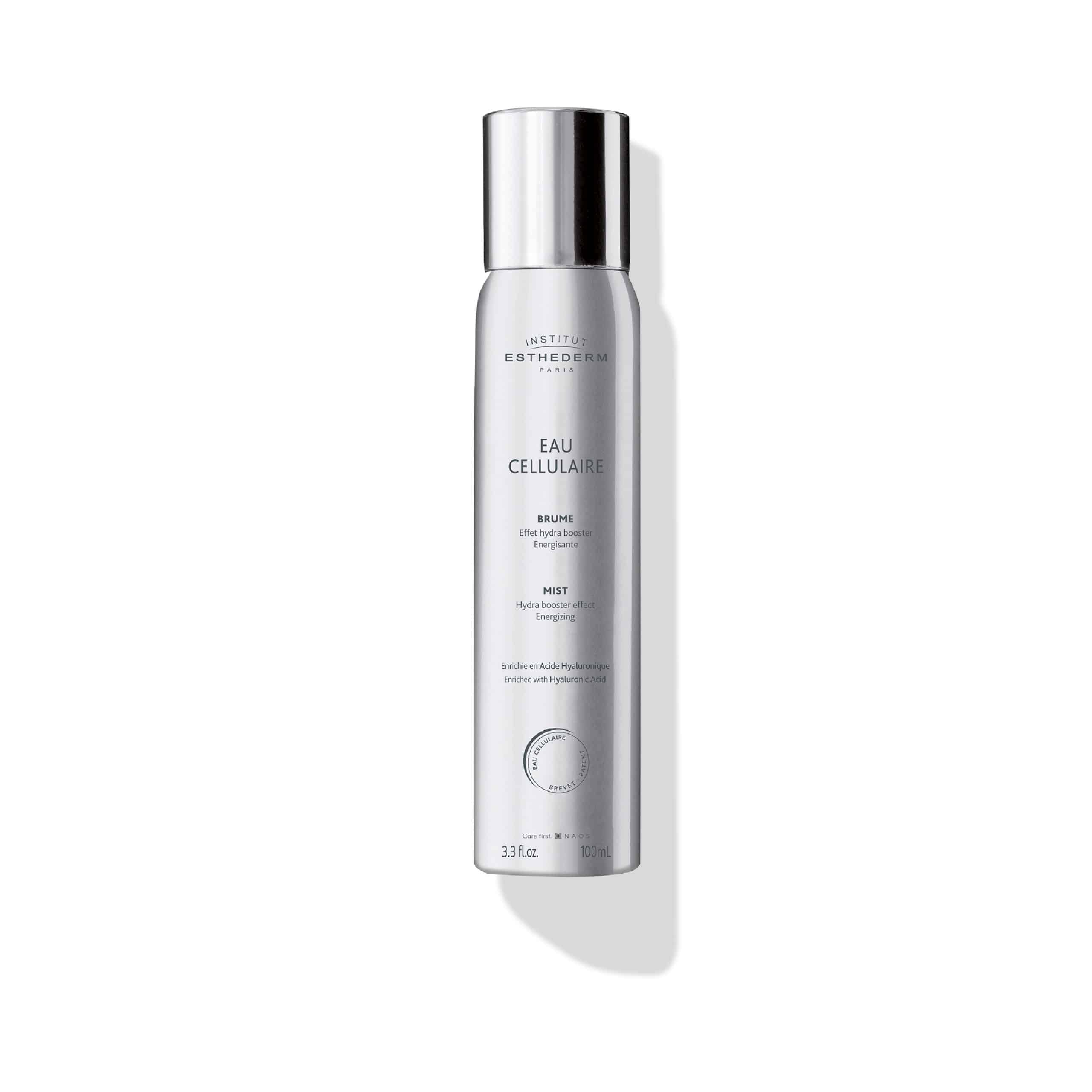 ESTHEDERM product photo, Cellular Water Mist 100ml, facial mist, replenishing and revitalizing spray, Hyaluronic Acid