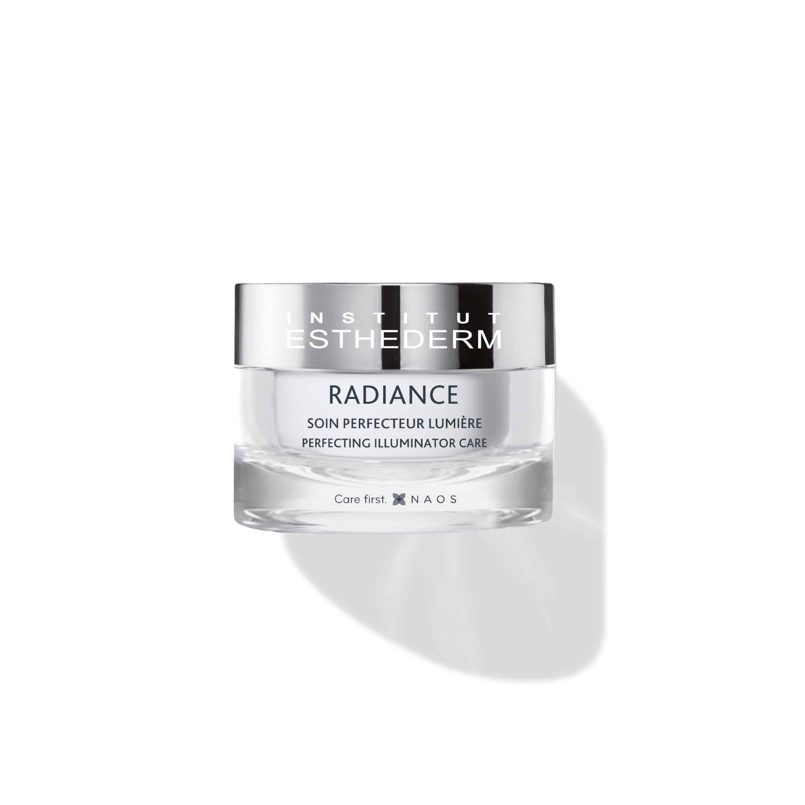 ESTHEDERM product photo, Radiance Cream 50ml, detoxifying illuminating care, moisturizes, treats signs of fatigue and aging