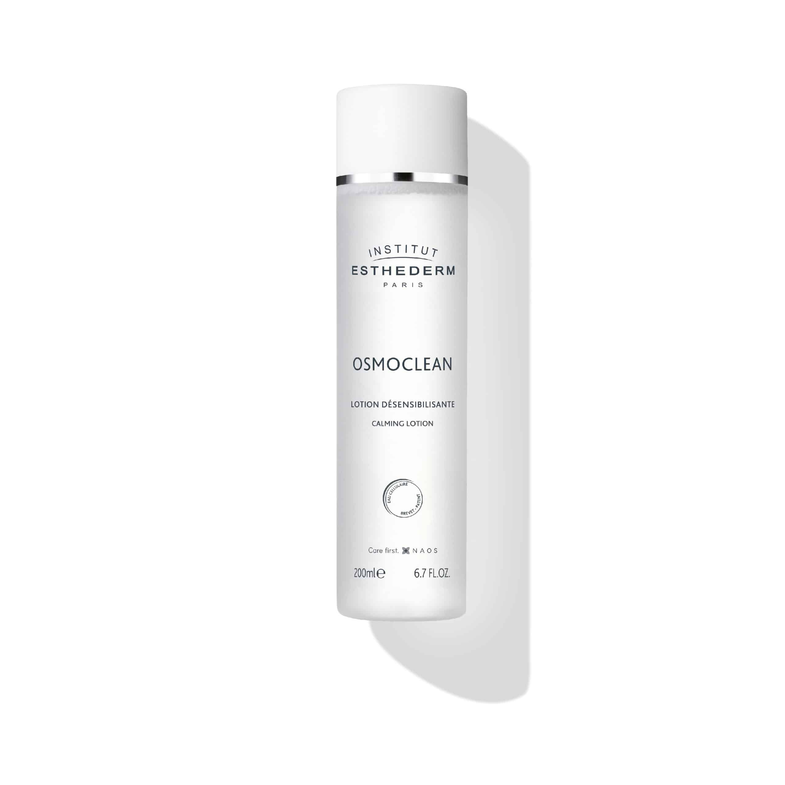 ESTHEDERM product photo, Osmoclean Alcohol Free Calming Lotion 200ml, non-rinse lotion, soothing toner, sensitive skin