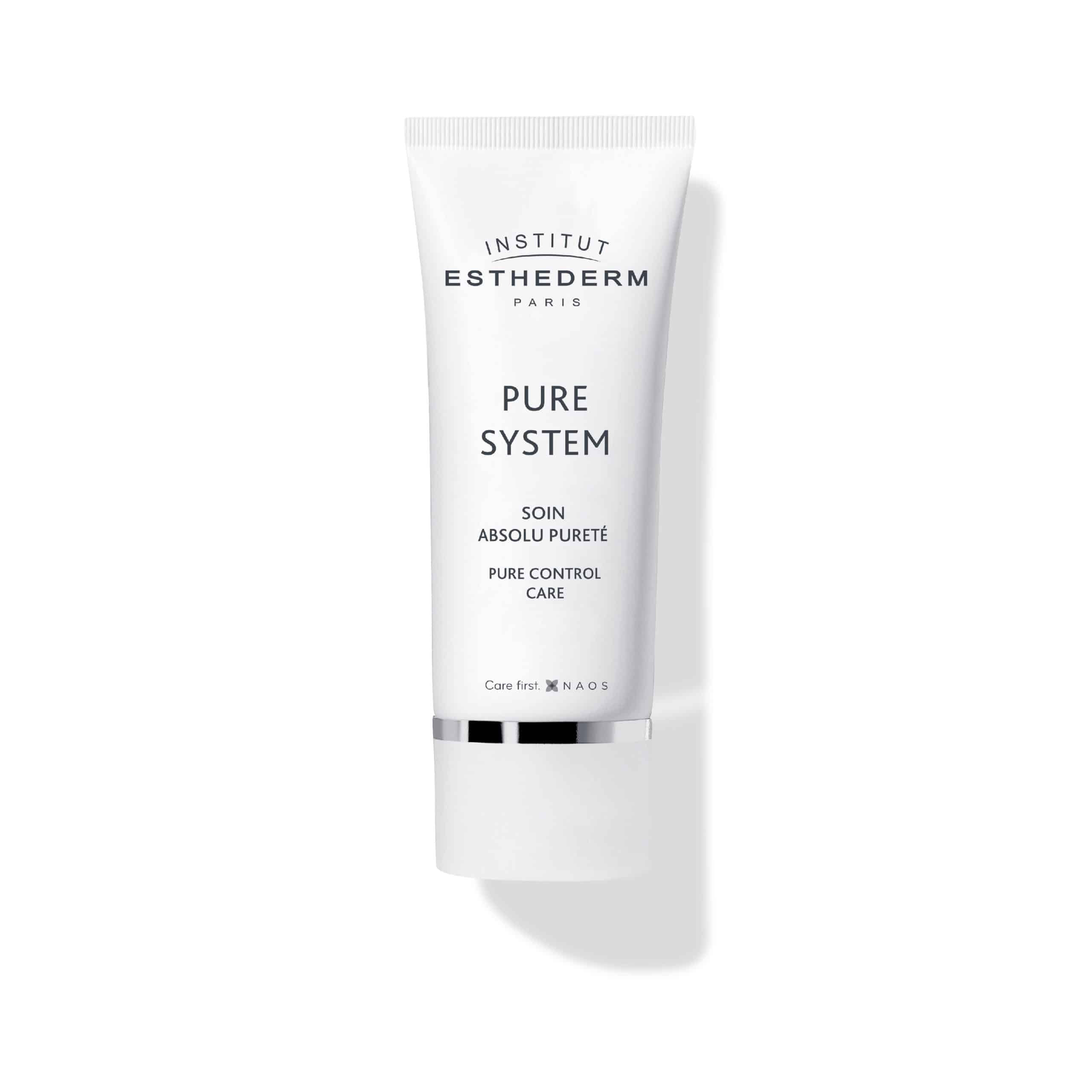 ESTHEDERM product photo, Pure System Pure Control Care Cream 50ml, hydrating, mattifying skincare, less shine, oily skin