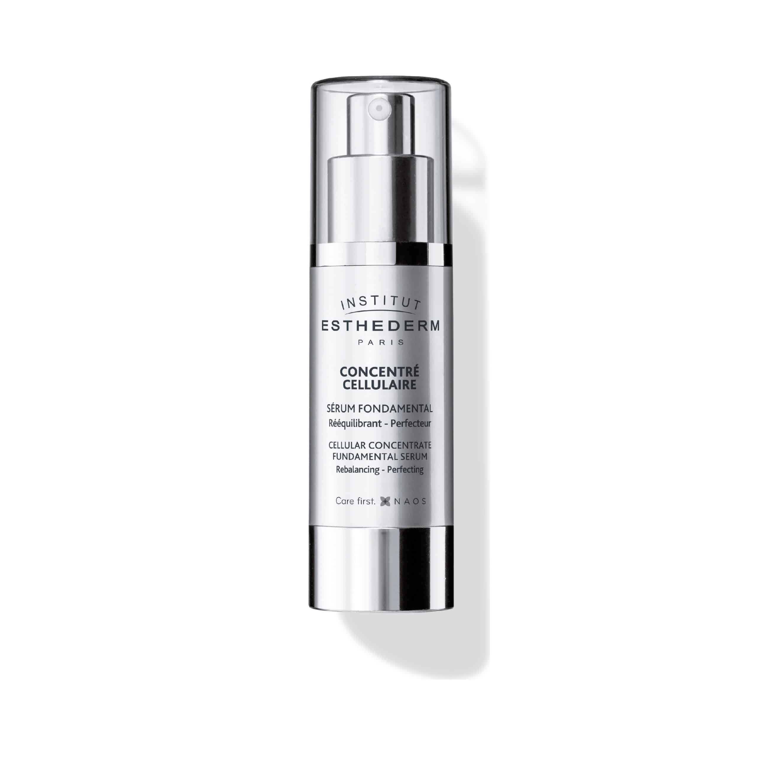 ESTHEDERM product photo, Cellular Concentrate Fundamental Serum 30ml, universal care, hydrates, soothes, rebalances skin