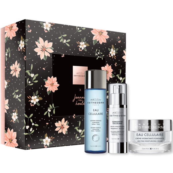 Esthederm product photo, holiday giftsets, skin routine, professional face and body care, christmas promotion, gifting