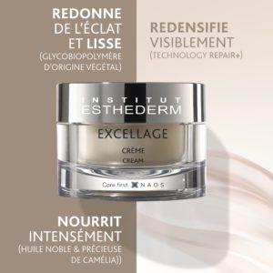 ESTHEDERM photo produit, Crème Excellage 50ml, concentré, nourrit, redensifie, redonne l'éclat, unifie le teint, peau mature