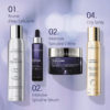 ESTHEDERM photo produit, gamme Intensif Spiruline, sérum, crème, illumine la peau fatiguée, terne, énergie, peau revitalisée