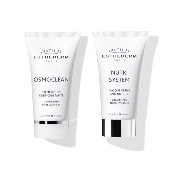 ESTHEDERM product photo, Osmoclean Gentle Deep Pore Cleanser 50ml, Nutri System Cream Mask Nutritive Bath 50ml